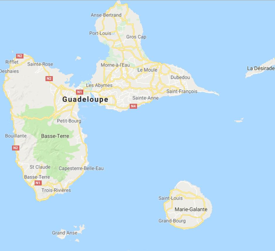 Kort-Guadeloupe
